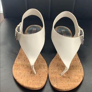 Michael Kord white sandals